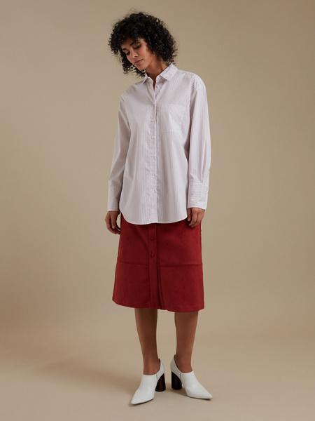 Удлиненная рубашка оверсайз - фото 5