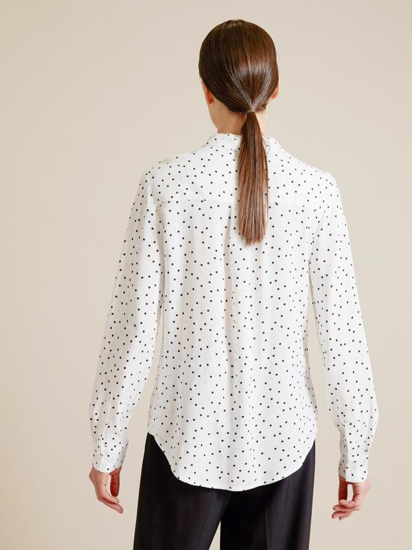Блузка с накладным карманом - фото 3