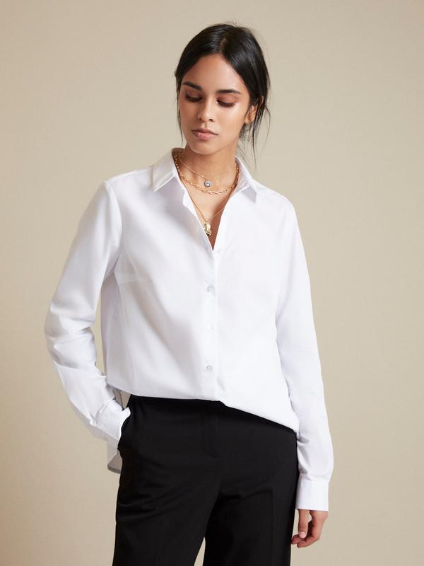 Блузка с асимметричным низом - фото 1