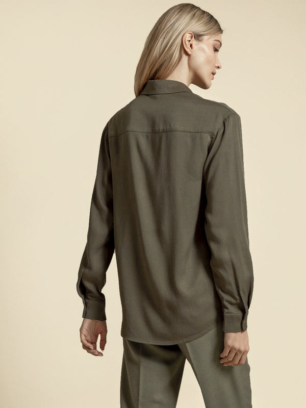Блузка с накладными карманами 100% вискоза - фото 4