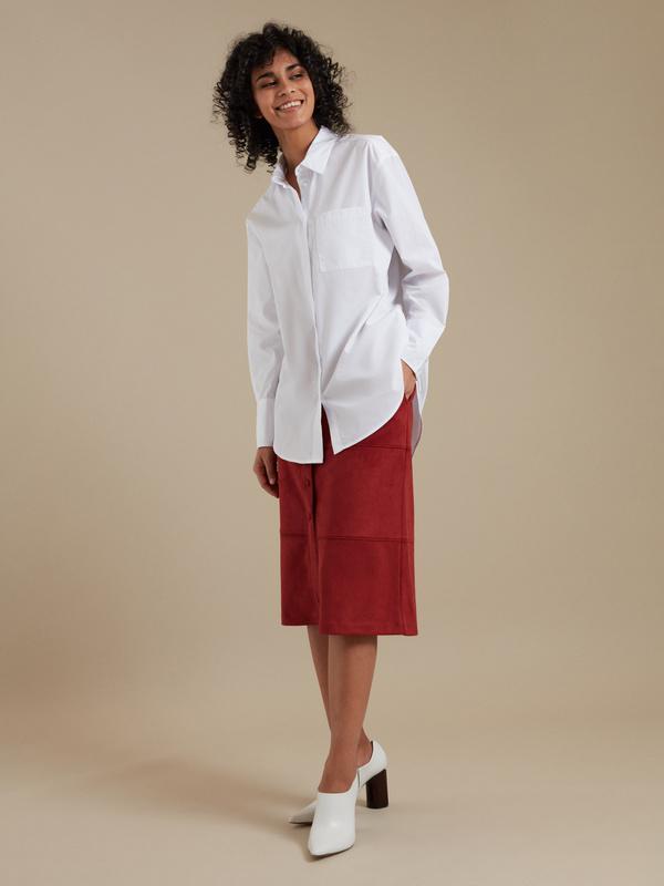 Удлиненная рубашка оверсайз - фото 3