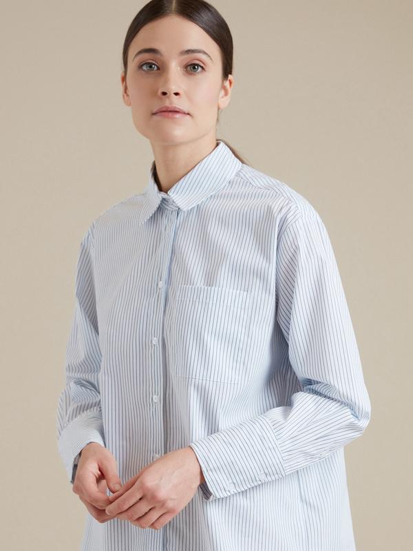 Удлиненная рубашка оверсайз