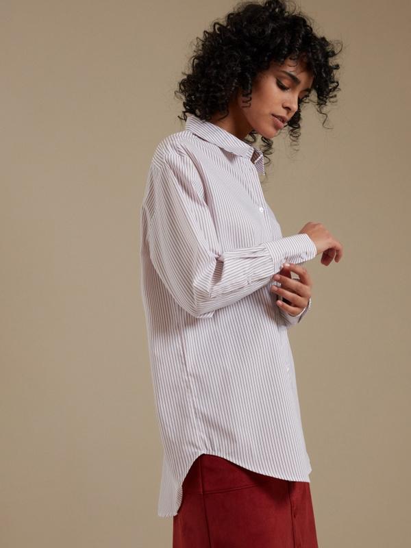 Удлиненная рубашка оверсайз - фото 1
