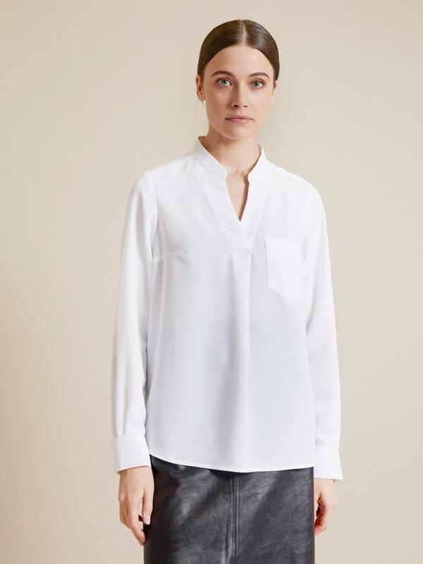 Блузка с V-образным вырезом - фото 3