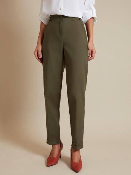 Зауженные брюки с эластичным поясом - фото 1