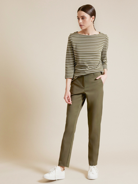 Прямые брюки с врезными карманами - фото 1