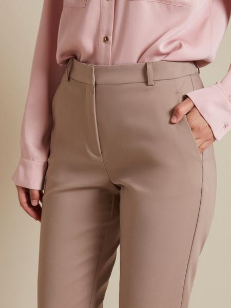 Прямые брюки с врезными карманами - фото 2