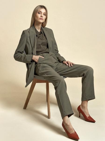 Прямые брюки с подворотами - фото 1