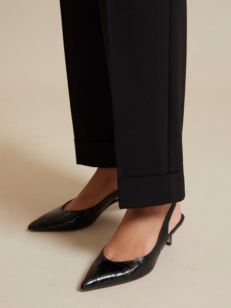 Прямые брюки с подворотами - фото 4