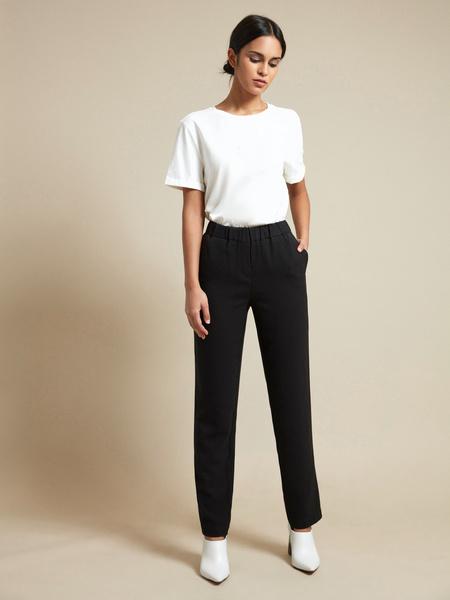 Прямые брюки с эластичным поясом - фото 1