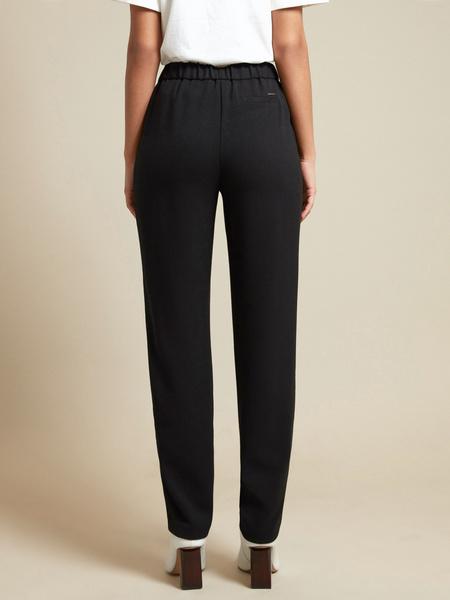 Прямые брюки с эластичным поясом - фото 3