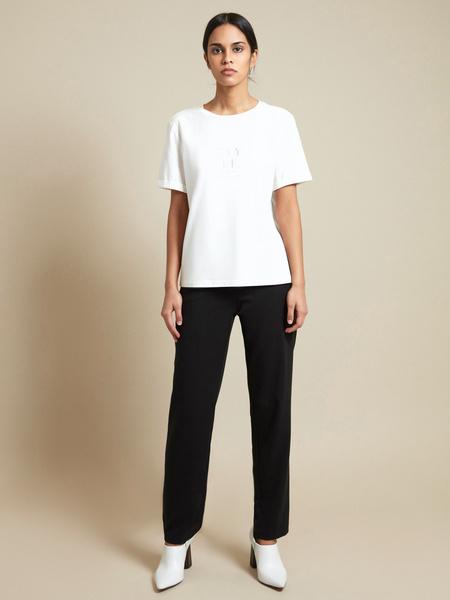 Прямые брюки с эластичным поясом - фото 4