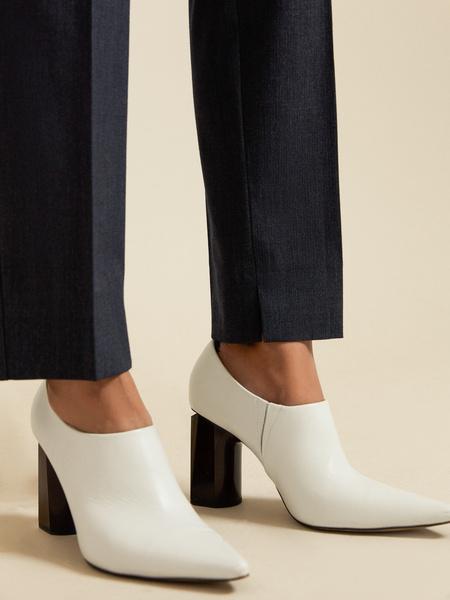 Прямые брюки с разрезами - фото 3