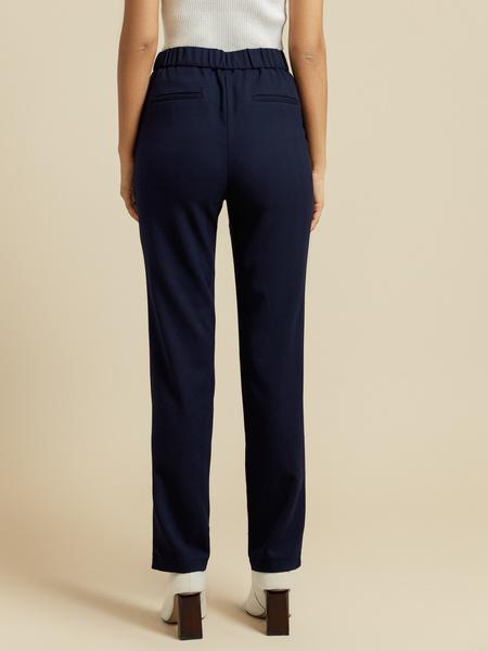Прямые брюки с эластичным поясом - фото 5