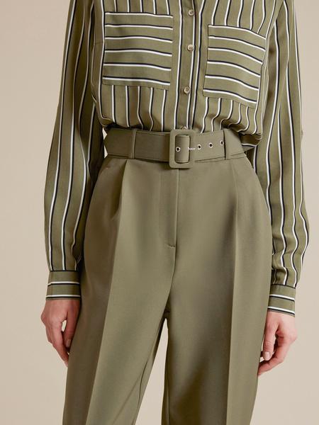 Зауженные брюки с поясом - фото 3