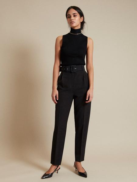 Зауженные брюки с поясом - фото 1