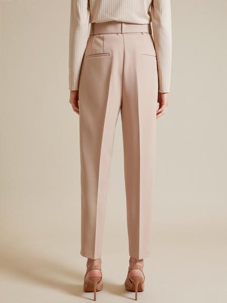 Зауженные брюки с поясом - фото 4