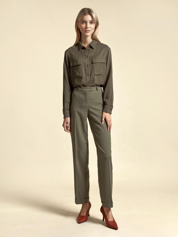 Прямые брюки с подворотами - фото 5