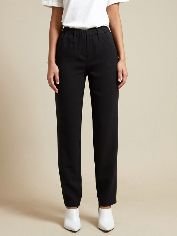 Прямые брюки с эластичным поясом - фото 2