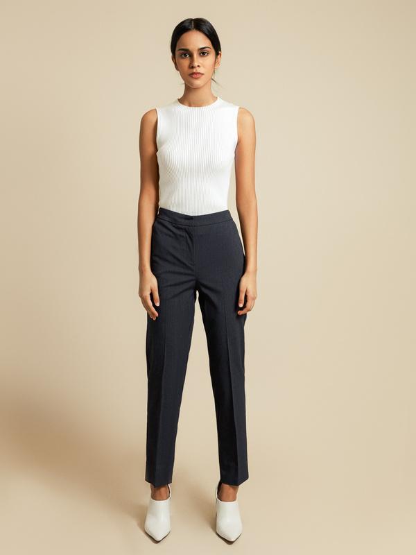 Прямые брюки с разрезами - фото 5