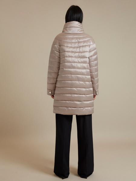 Стеганое пальто с воротником стойка - фото 6