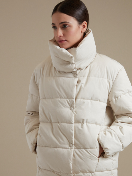 Стеганая куртка оверсайз  - фото 2