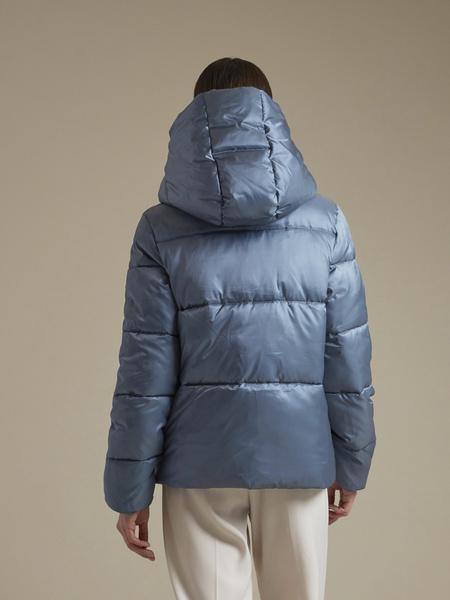 Атласная куртка с капюшоном - фото 4
