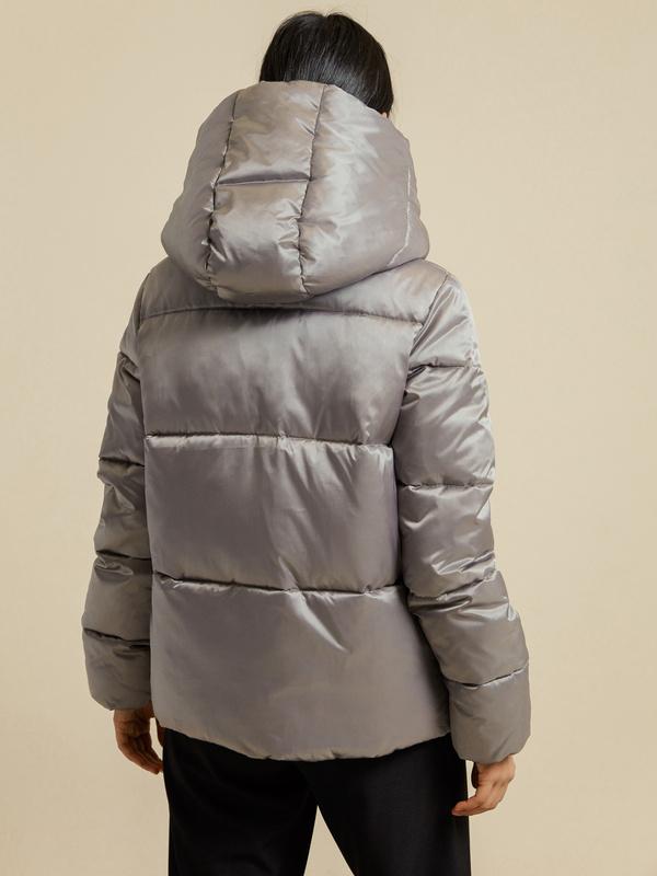 Атласная куртка с капюшоном - фото 5