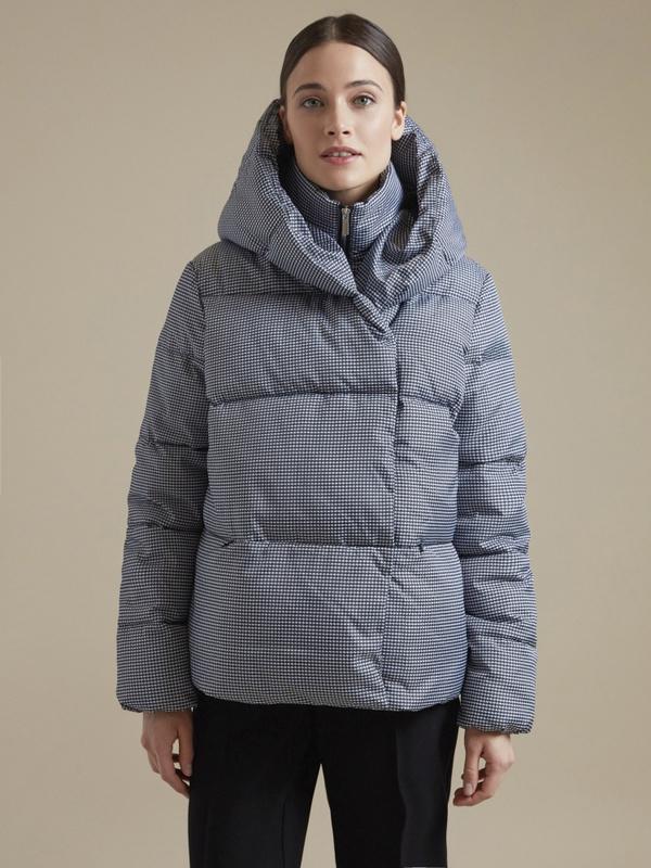 Куртка с принтом гусиная лапка