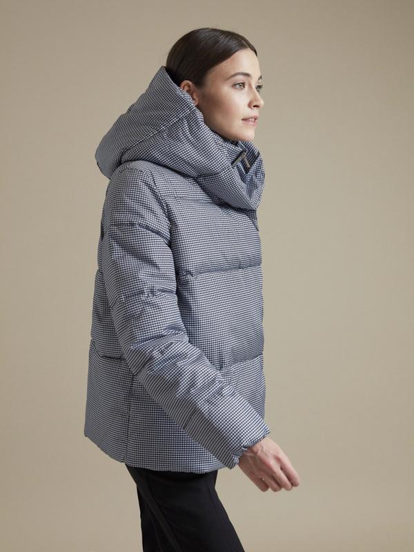 Куртка с принтом гусиная лапка - фото 2