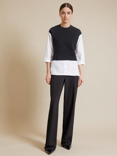 Комбинированная блузка - фото 6