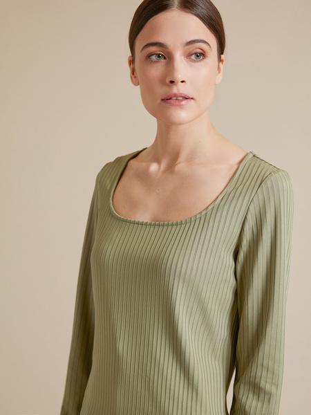 Блузка в рубчик - фото 2