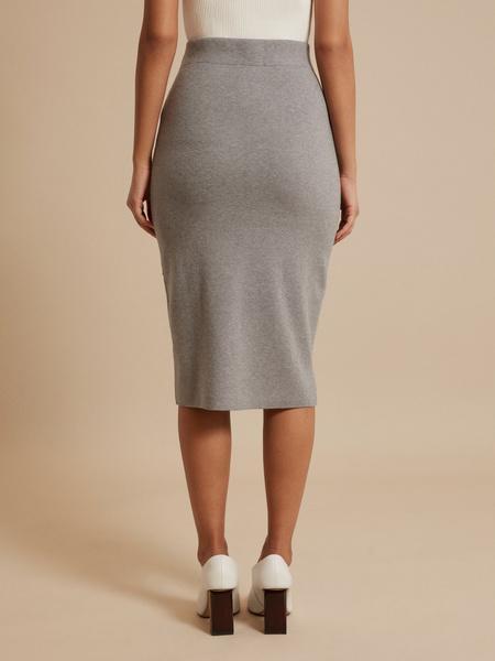 Облегающая трикотажная юбка  - фото 4
