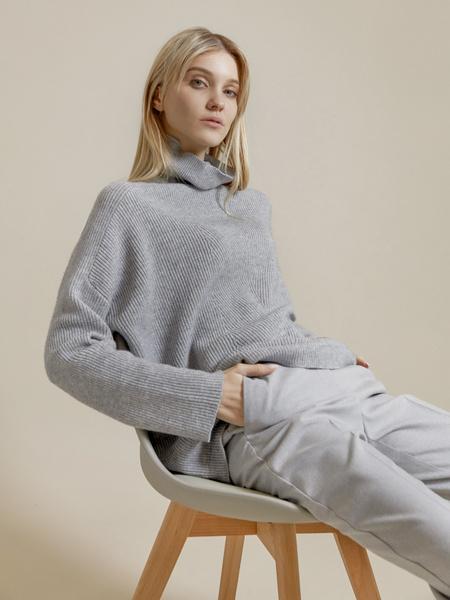 Джемпер комбинированной вязки - фото 1