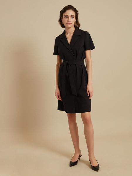Платье-миди с поясом - фото 2