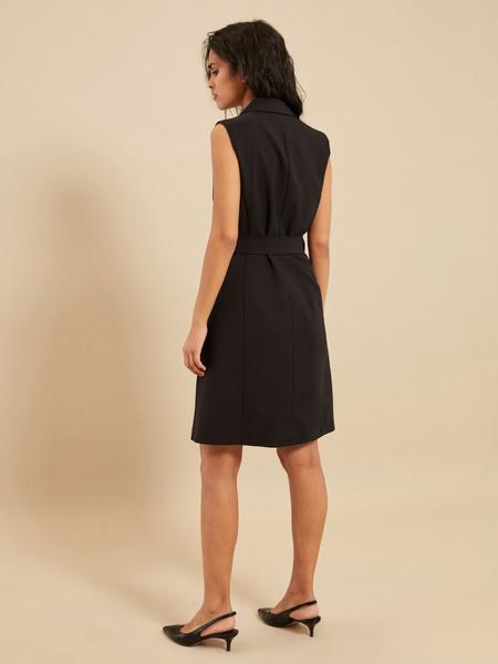 Платье-жилет с поясом и карманами - фото 5