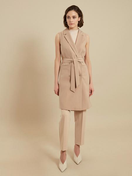 Платье-жилет с поясом и карманами