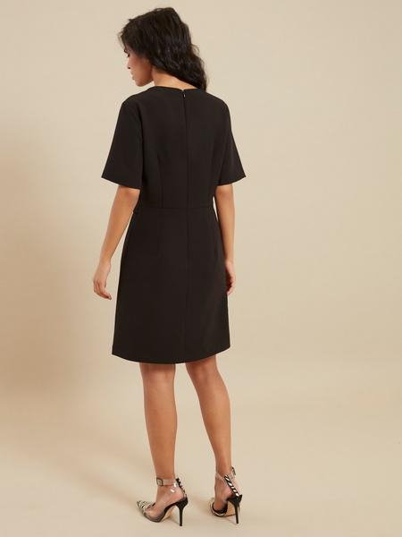 Платье-миди с коротким рукавом - фото 5