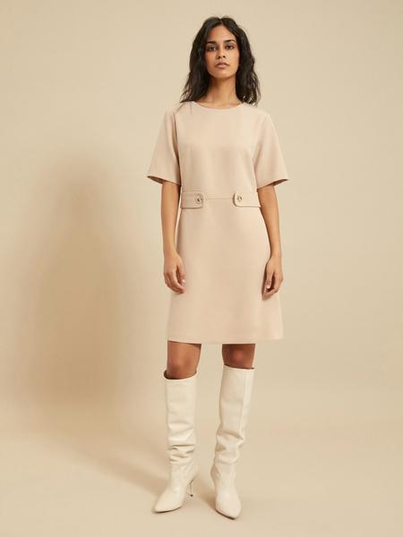 Платье-миди с коротким рукавом - фото 3