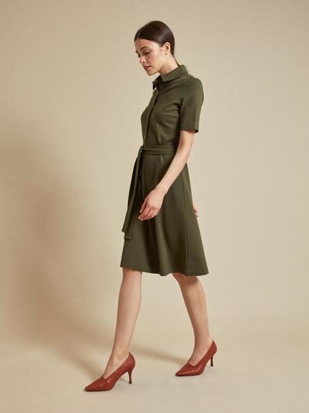 Платье с воротником поло - фото 5