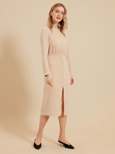 Платье на резинке с разрезом - фото 2