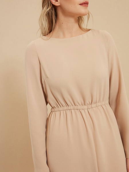 Платье на резинке с разрезом - фото 4