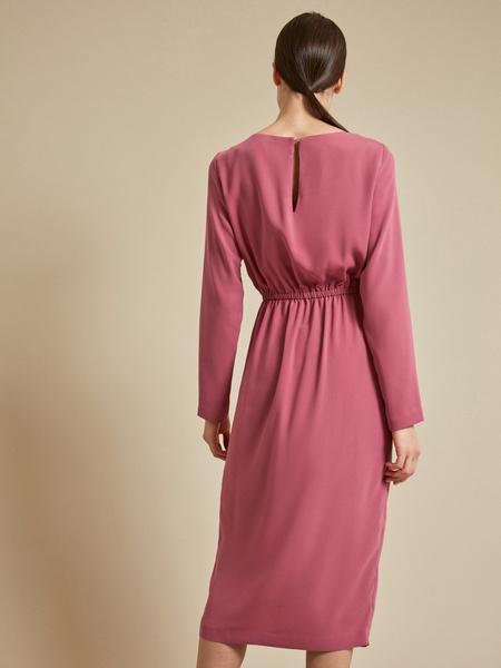 Платье на резинке с разрезом - фото 7