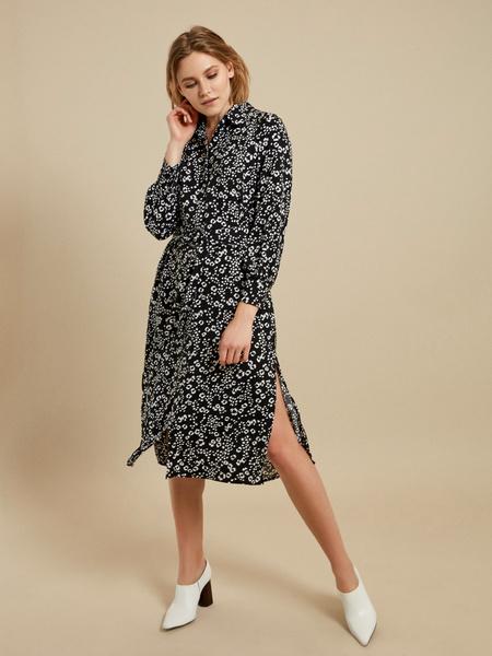 Платье-рубашка с поясом - фото 1