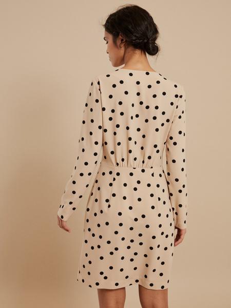 Платье-мини в горох - фото 5