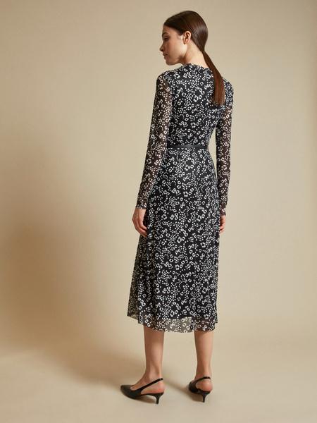 Сетчатое платье-миди на подкладе - фото 4