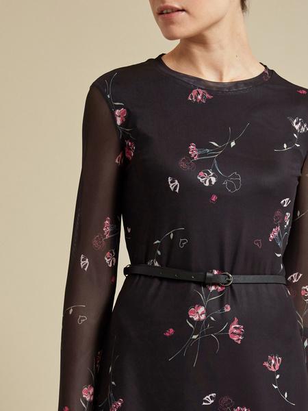 Сетчатое платье-миди на подкладе - фото 3