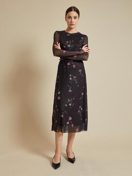 Сетчатое платье-миди на подкладе - фото 5