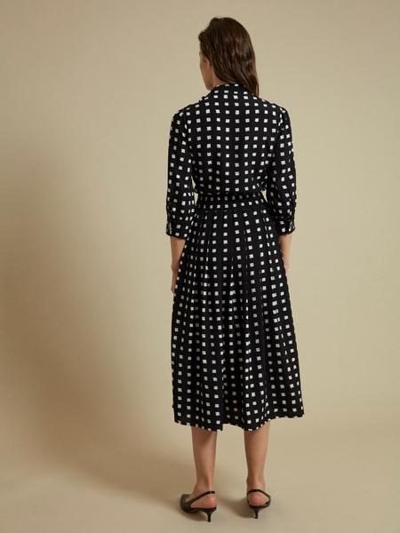 Платье-миди с пуговицами на плече - фото 3
