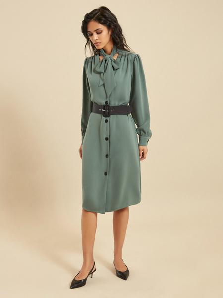 Платье-миди с ремнем - фото 3
